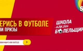 Промо акция Скитлс 2021 «Разберись в футболе и получи призы» — регистрация кода