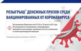 Как зарегистрироваться и участвовать в розыгрыше 100 тысяч рублей за вакцинацию от коронавируса